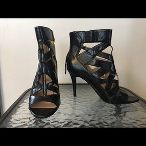 Crisscross Black High Heels
